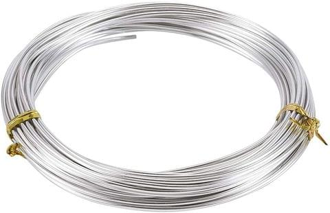 Aluminium Craft Wire Silver 10 Mtrs, Size 1.50 mm