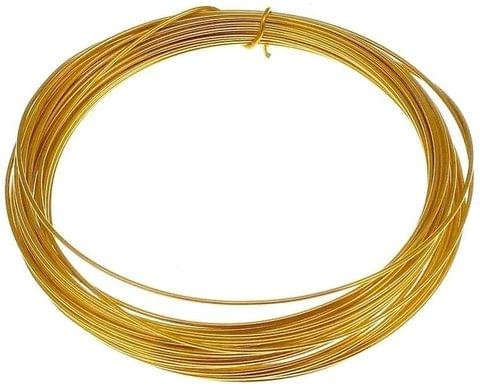 Aluminium Craft Wire Gold 10 Mtrs, Size 1.50 mm