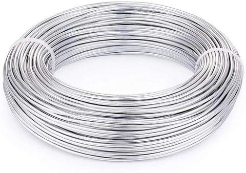 Aluminium Craft Wire Silver 10 Mtrs, Size 2.50 mm