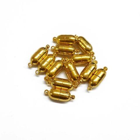 6pcs, 17mm, AAA quality gold polish magnetic clasps