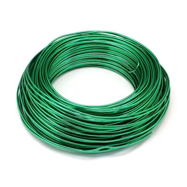 10 Mtrs Aluminium Colored Wire Green 1mm (18 Gauge)