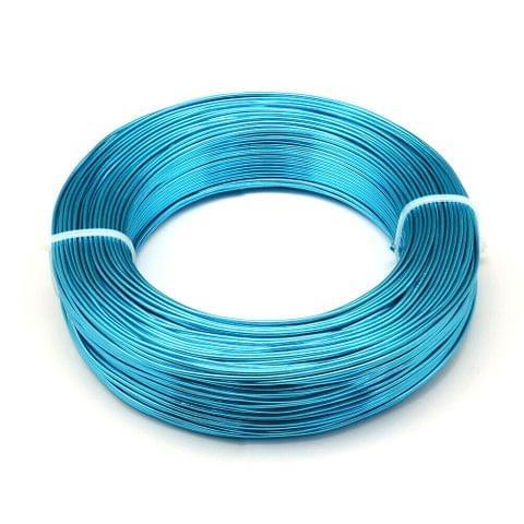 10 Mtrs Aluminium Colored Wire Turquoise 1mm (18 Gauge)