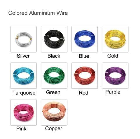 100 Mtrs Aluminium Colored Wire Combo 1mm (18 Gauge)
