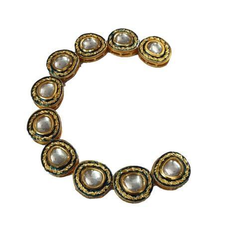 10pcs, 18x20mm Kundan Oval Chain