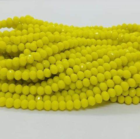 Yellow 5 Strings Crystal Beads 6mm Rondelle