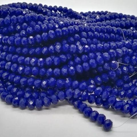 Blue 4 Strings Crystal Beads 6mm Rondelle