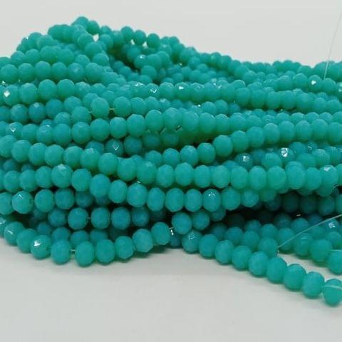 Teal 5 Strings Crystal Beads 6mm Rondelle