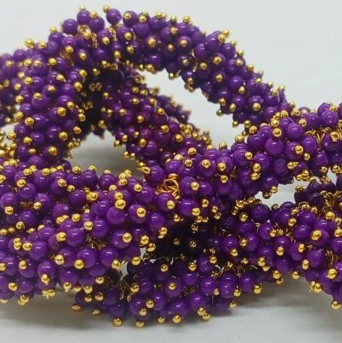 Purple Glass Loreal Beads 3mm