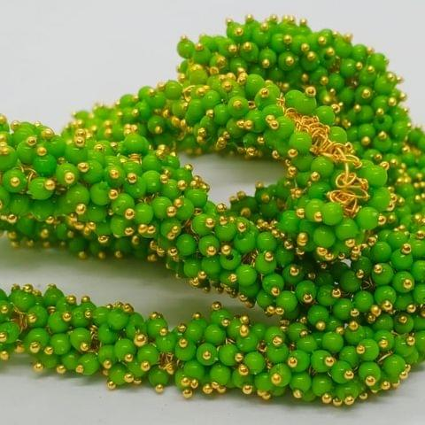 Parrot Green Glass Loreal Beads 3mm