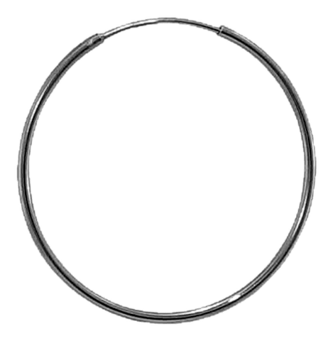 92.5 Sterling Silver 14mm Round Hoop Earrings