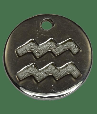92.5 Sterling Silver AQUARIUS Charm