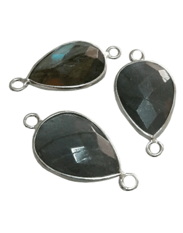 Sterling Silver Labrodorite Drop Connector