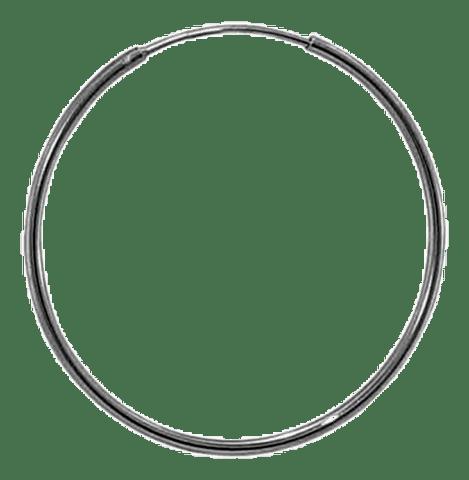 92.5 Sterling Silver 16mm Round Hoop Earrings