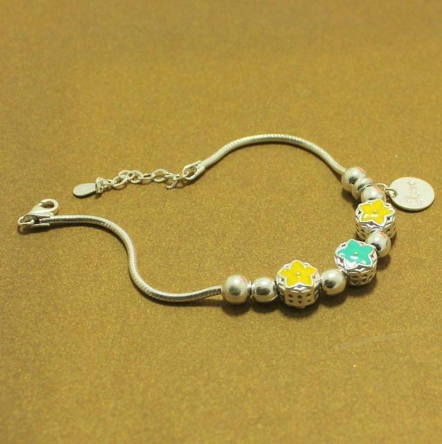 Floral Love Sterling Silver Bracelet