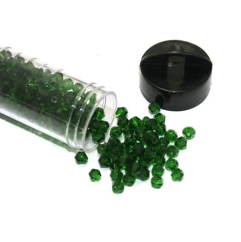 400 Pcs Trans Green Faceted Crystal Bicone Beads 4mm