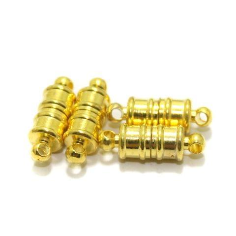 Golden 5 Pcs Magnetic Clasps , Size 10x6mm