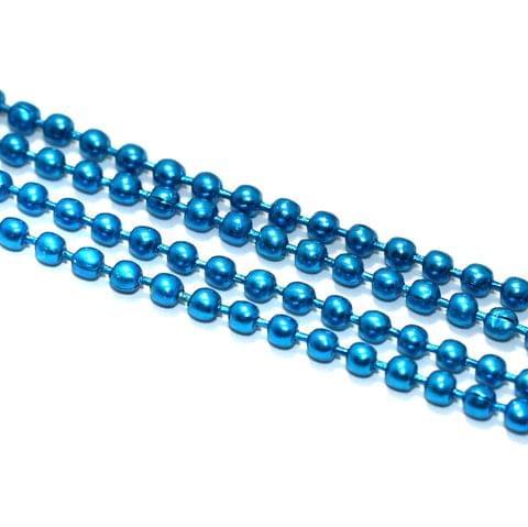 5 Mtrs, 2mm Aluminium Ball Chain Turquoise