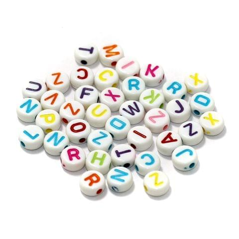 500 Pcs Acrylic Round A to Z Alphabet Letter Beads Multicolor 6mm