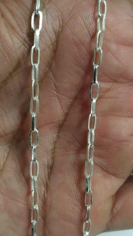 Sterling Silver Paper Clip Chain � 100 cms