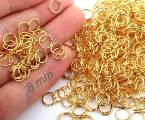 1300 Pcs Golden Jump Rings 8mm