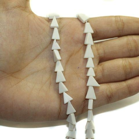 2 Strings Semiprecious Howlite Beads 9x6mm