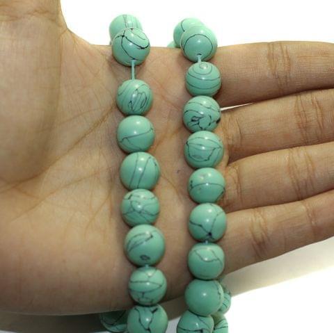 2 Strings Semiprecious Howlite Beads 10mm