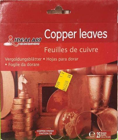 Copper Leaf Sheets, 5.5 Inch x 5.5 Inch Gilding Foil Copper Foil Paper for Paintings, Arts Crafts
