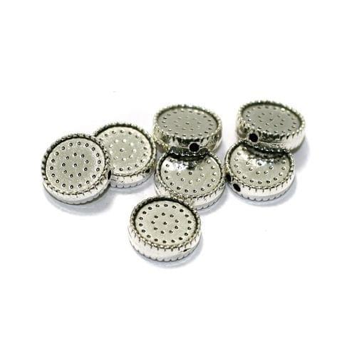 50 Pcs German Silver Spacer Beads 12mm