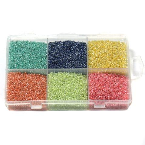 Inside Color Glass Seed Beads DIY Kit for Jewellery Making, Beading, Embroidery and Art and Crafts, Size 11/0 (2mm)