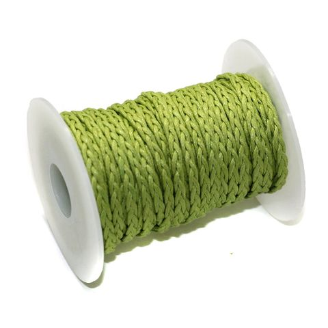 10 Mtrs 3 Ply Braided String Cotton Cords Rope Peridot 3mm