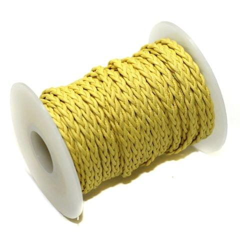10 Mtrs 3 Ply Braided String Cotton Cords Rope Yellow 3mm