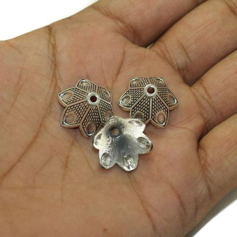 20 Pcs German Silver Beads Caps 17x11mm