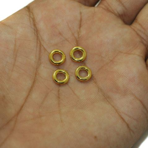 100 Pcs German Silver Donut Ring 8mm