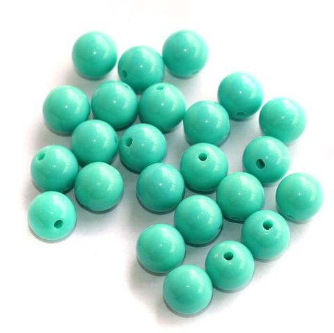 100 Acrylic Round Beads Mint Green 10mm