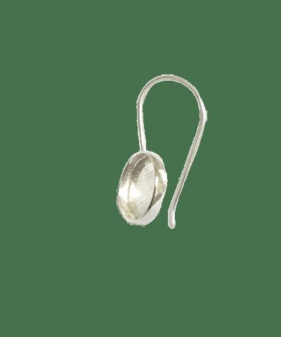 Sterling Silver Setting Earhook 4mm