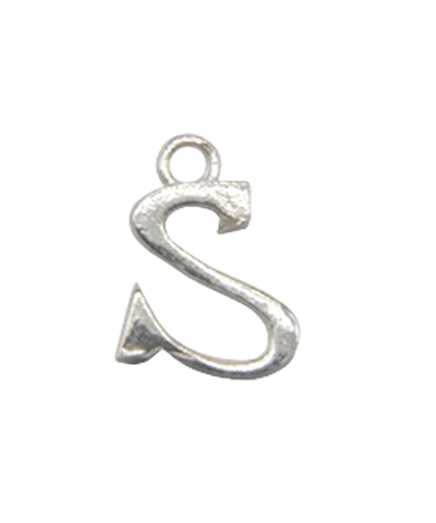 """Sterling Silver Alphabet Charm """"S"""""""
