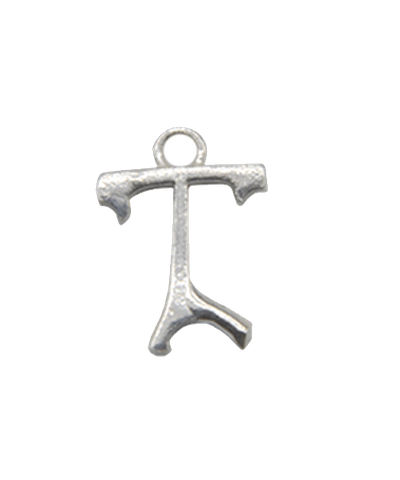 """Sterling Silver Alphabet Charm """"T"""""""