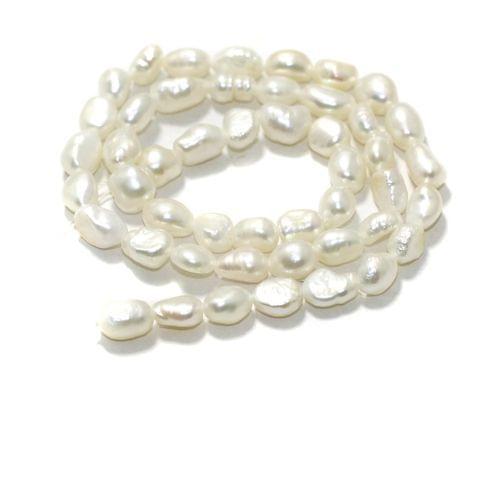 1 strand Baroque Pearls 7x5mm