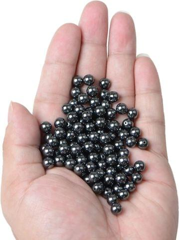 1 Strand, 4mm Magnetic Hematite Round Beads