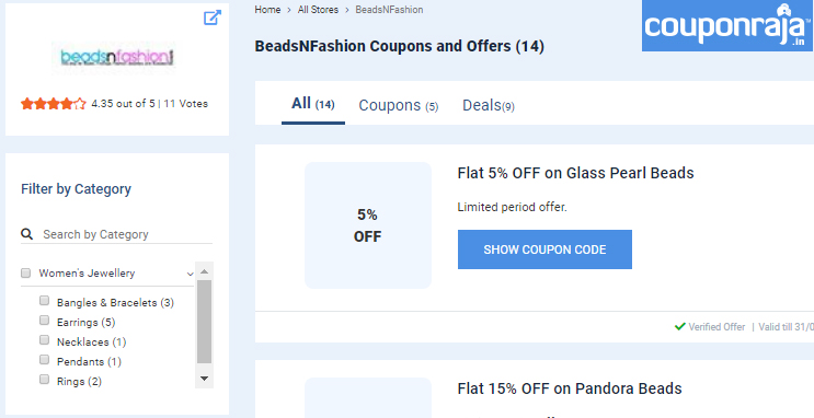 Get Our latest Discount coupon on Coupon Raja