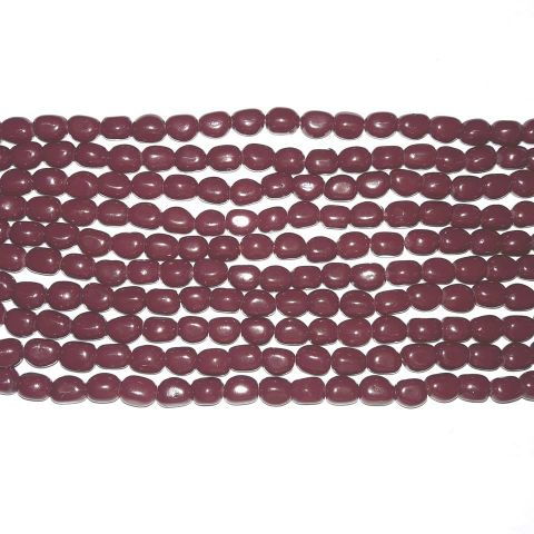 5String Ruby Glass Beads Tumble 10mm