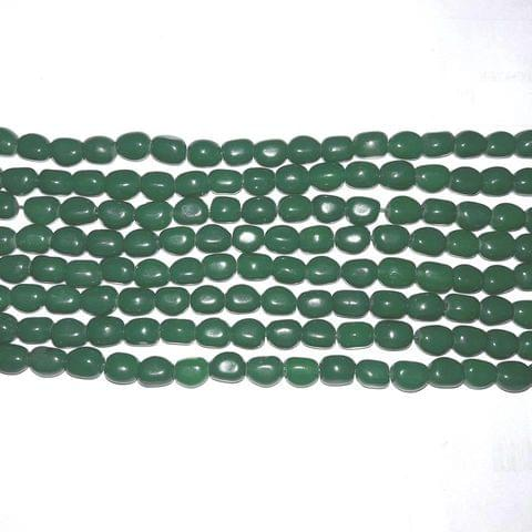5String Green Glass Beads Tumble 10mm