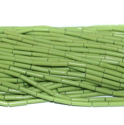 Tube Beads Green Colour. 10 string 200rs .