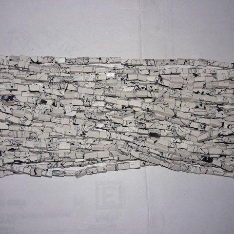 Semiprecious White Marbel Chaupasa.. 10 Strings.