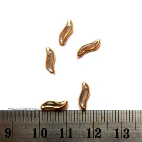 S Shaped Kundan stones Golden Prongs for Kundan jewellery making rangoli crafts