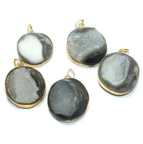 5 Pcs. Druzy Pendants Assorted 23-35 mm