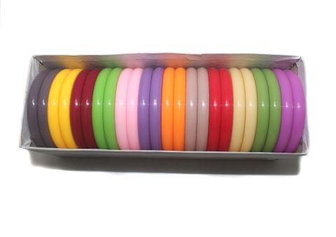 Beadsnfashion Acrylic Colourful Bangles For Silk Thread Jewellery Making, Full Box 24 Pcs, Size2.4