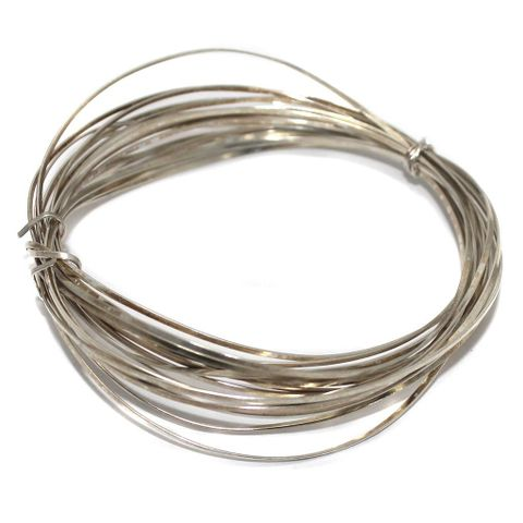 18 Gauge [1.20 mm] Jewellery Making Silver Plated Brass Craft Wire 5 Mtr