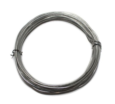 16 Gauge [1.60 mm] Jewellery Making Silver Plated Brass Craft Wire [5 mtr]