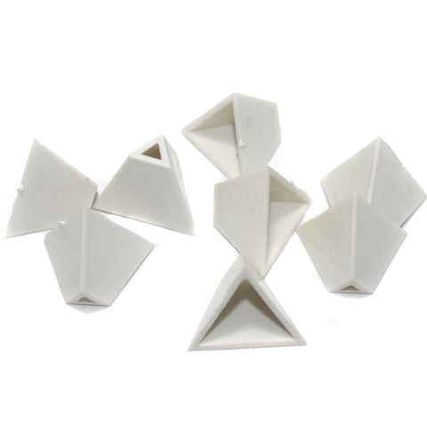 Silk Thread Jewellery Making Triangle Shape Jhumka base, Size 19x16 , Pack Of 50 Pcs
